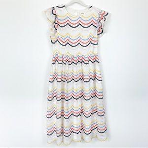 Just Me Midi Eyelet Lace Dress Size Large